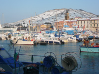 port vendres plage neige